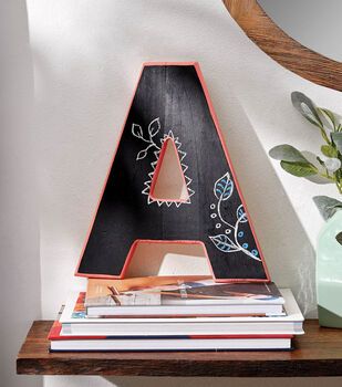 How To Make A Chalk Board Painted Letter