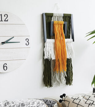How To Make A Yarn Frame Wall Hanging