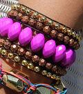 Acrylic Wide Woven Cuff Bracelet