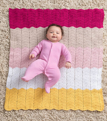 How To Make A Lion Brand Coboo Happy Baby Ripple Afghan