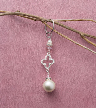 Pearl And Crystal Keychain
