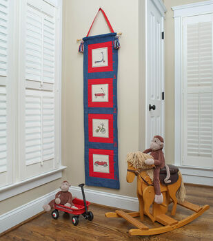How To Make a Square By Design® Vintage Toys Wall Hanging/Growth Chart