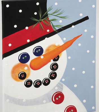 Fine Art Snowman Canvas