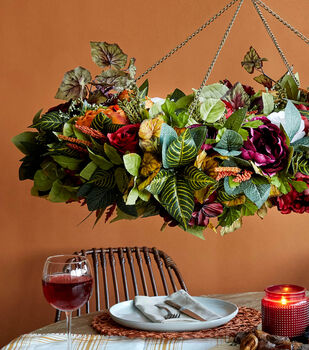 How To Make a Fall Floral Chandelier