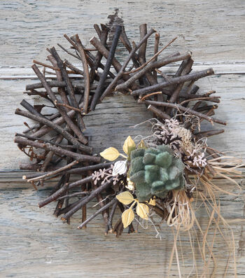 How To Make A Succulent Twig Wreath