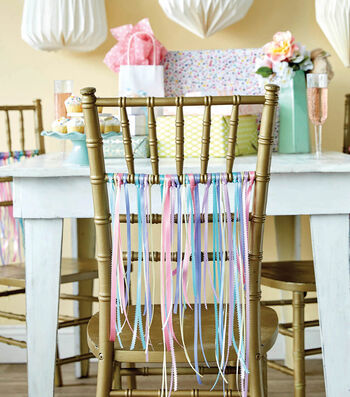How To Make a Ribbon Streamer Party Chairs
