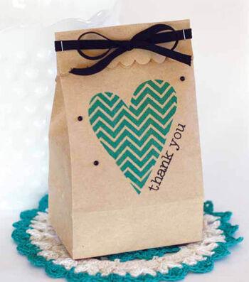 How To Make a Chevron Heart Bag