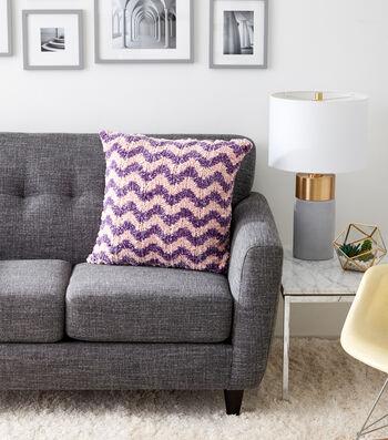 How To Make A Chevron Knit Cushion