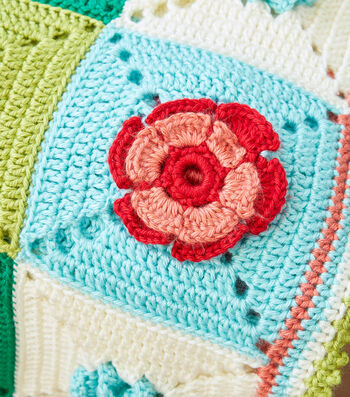 How To Make A Caron Floral Granny Crochet Afghan