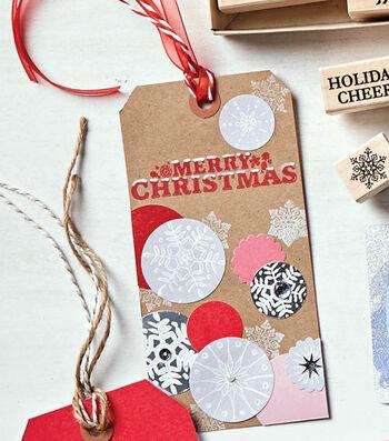 How To Make Merry Christmas Circle Tags