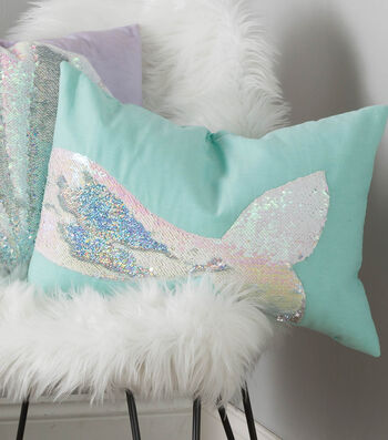 Make A Reversable Sequin Mermaid Tail Pillow