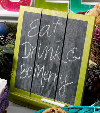 How To Make A Color Shift Holiday Chalkboard