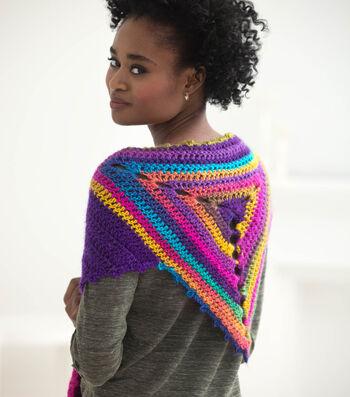 How To Crochet A Rainbow Shawl