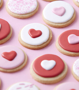 How To Make Mini Round Heart Cookies
