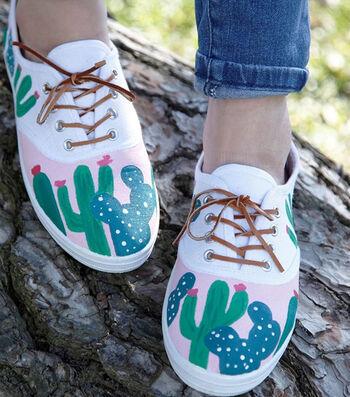 How to Make Cactus Tennis Shoes