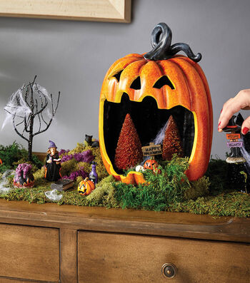 Halloween Littles Mantel Pumpkin Decoration