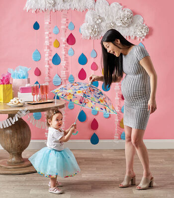 How To Make a Hanging Rain Clouds Party Decor
