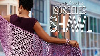 How to Crochet Lacy Isosceles Shawl Part One