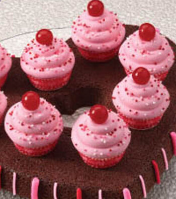 Valentine's Sweet Treats-Brownies with Cupcakes