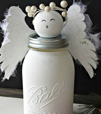 How To Make a Ball Jar Christmas Angel