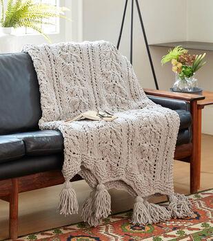 How To Make A Bernat Rose Leaf Knit Blanket