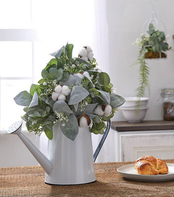 How To Make a Farmhouse Watering Can Arrangement