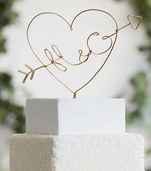 How To Make A Wire Cake Topper