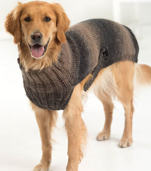 How To Make a Lion Brand Scarfie Hunter's Urban Dog Sweater
