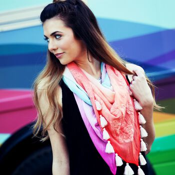How To Make An Ombré Dyed Scarf
