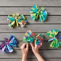 How To Make Tie Dye Tissue Paper Butterflies