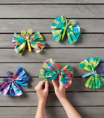 How To Make Tie Dye Tissue Paper Butterflies