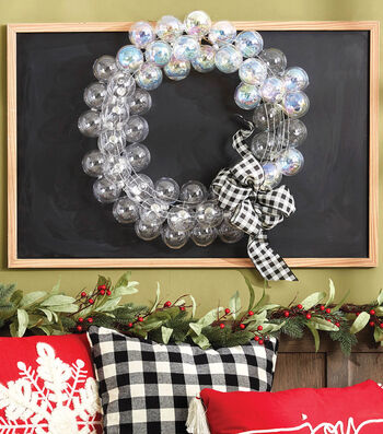 How To Make A Clear Ball Ornament Wreath