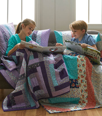 How To Make A Spin Me Round Quilt and Shams