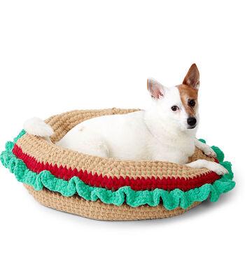 How To Make A Bernat Crochet Burger Pet Bed