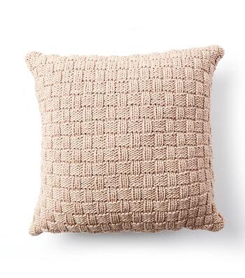 How To Make A Bernat Maker Outdoor Basketweave Knit Pillow