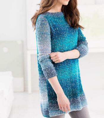How To Make A Lion Brand Shawl In A Cake Blue Mesa Tunic