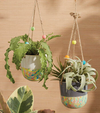 How To Make A Splatter Paint Hanging Planter