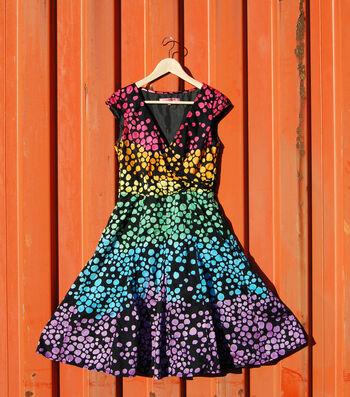 How To Make a Dyed Rainbow Polka Dot Dress