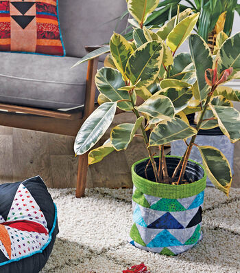 How To Make A Fabric Plant Basket