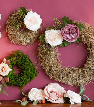 How To Make Moss Wreaths