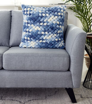 How To Make A Bernat Alize Blanket EZ Criss-Cross Pillow