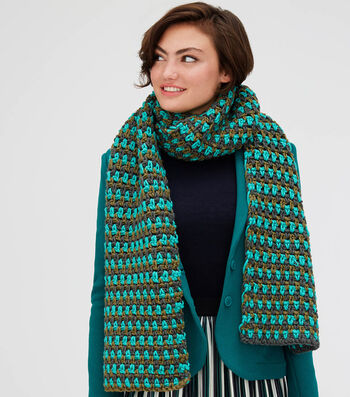 How to Make A Lion Brand Color Made Easy Evergreen Avenue Scarf