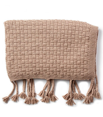 How To Make A Bernat Maker Outdoor Basketweave Knit Throw