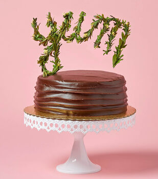 "Make A Greenery ""Yum"" Cake Topper"