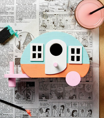 Paint a Wooden Camper Birdhouse