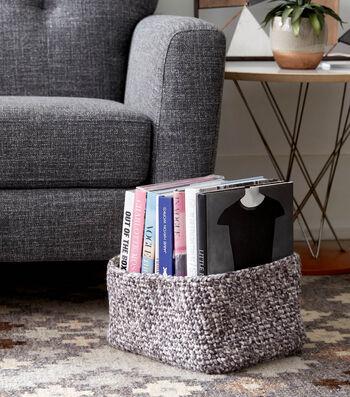 Rectangular Crochet Basket