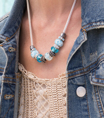 Make A Fancy Metal Lined Bead Necklace