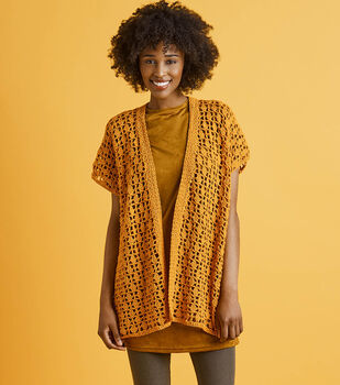 How To Make A Lion Brand 24/7 Cotton Marigold Cardi