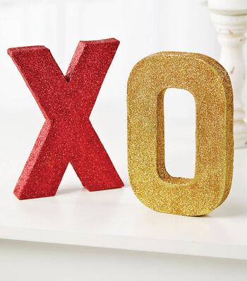 Glitter XO Letters