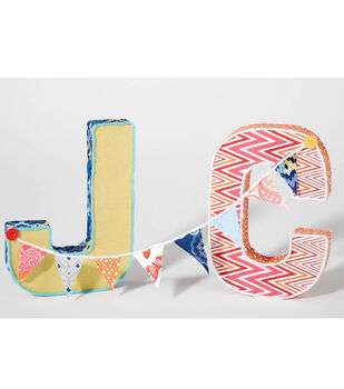 Fabric Wrapped Letters